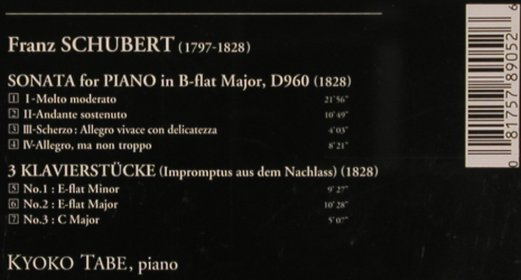 Schubert,Franz: Piano Sonata in B-Flatt,D960,D946, Denon(CO-78905), J, 1994 - CD - 81852 - 7,50 Euro