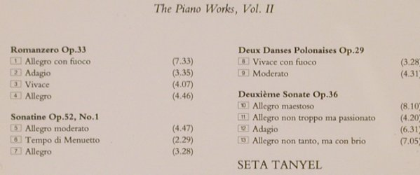Scharwenka,Xaver: The Piano Works 2 - Seta Tanyel, Collins(13522), UK, 1993 - CD - 81894 - 10,00 Euro