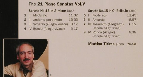 Schubert,Franz: The 21 Piano Sonatas Vol.V, EMI(7243 5 66131 2), UK, 1997 - CD - 81945 - 10,00 Euro