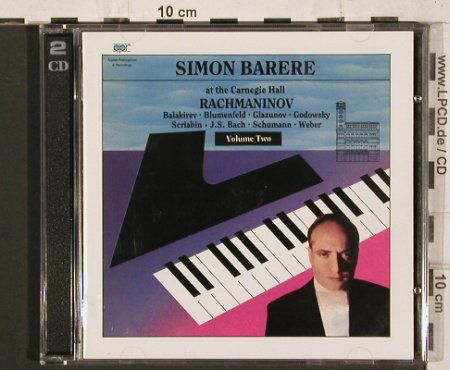 Barere,Simon: at the Carnegie Hall,Rachmaninov, Appian Publications(CDAPR 7008), UK,Vol.2, 1989 - 2CD - 81998 - 20,00 Euro