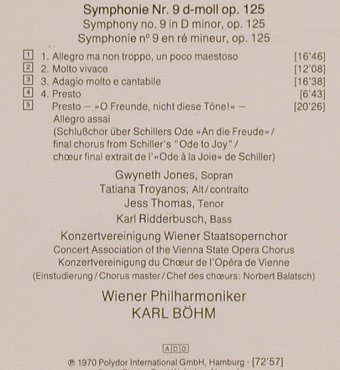 Beethoven,Ludwig van: Symphony 9, D.Gr. Resonance(427 196-2), D,  - CD - 83705 - 7,50 Euro