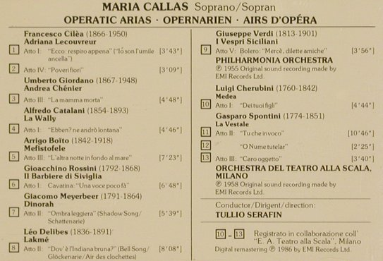 Callas,Maria: Opera Arias, EMI(), UK, 1986 - CD - 83735 - 7,50 Euro