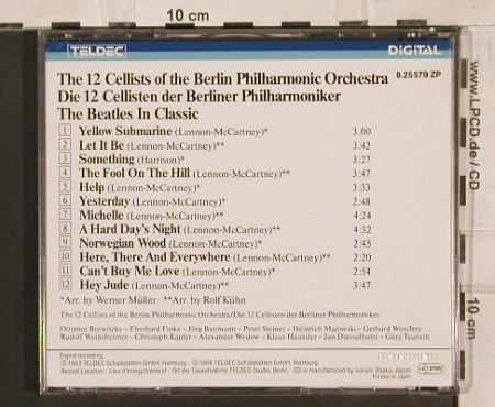 12 Cellisten: The Beatles in Classic, Teldec(8.25579), J, 1984 - CD - 83748 - 11,50 Euro