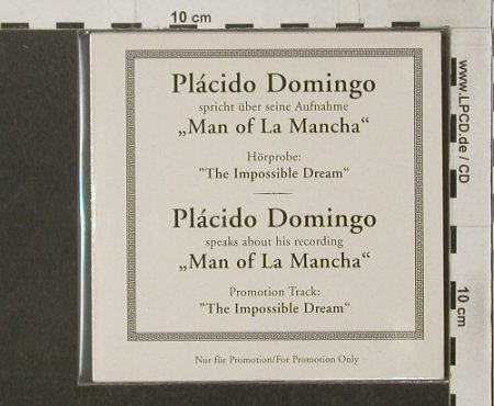Domingo,Placido: Man of La Mancha,Hörprobe,speaksAbo, Sony(SK6386), A,Promo, 1996 - CD5inch - 90287 - 5,00 Euro