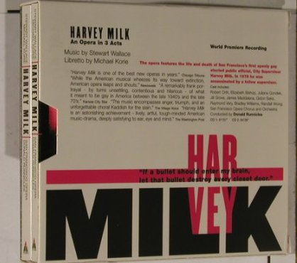 Harvey Milk -Stewart Wallace/Korie: AnOpera in 3 Acts,Booklet,Box, Teldec(), D, 98 - 2CD - 90719 - 12,50 Euro