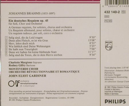 Brahms,Johannes: Ein Deutsches Requiem, Philips(), D, 1991 - CD - 90955 - 7,50 Euro