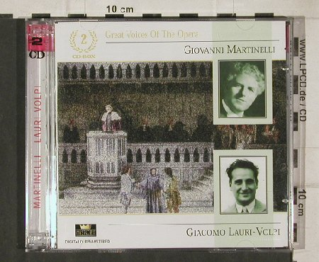 Martinelli,Giovanni/ G.Lauri-Volpi: Great Voices of the Opera, History(20.3071- HI), D,  - 2CD - 91083 - 7,50 Euro