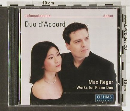 Reger,Max: Works For Piano Duo, Oehms(OC353), EU, 2004 - CD - 91345 - 7,50 Euro