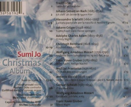 Jo,Sumi: The Christmas Album, Erato(), D, 2000 - CD - 91428 - 5,00 Euro
