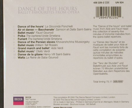 V.A.Dance Of The Hours: Ballet Favourites, FS-New, Decca(458 229-2), D, 2000 - CD - 91585 - 5,00 Euro