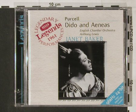 Purcell,Henry: Dido and Aeneas,(1961) FS-New, Decca(), D, 2000 - CD - 91630 - 11,50 Euro