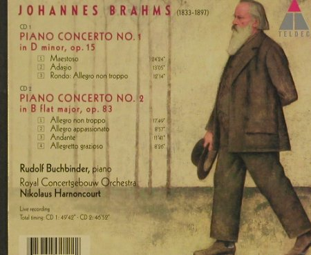 Brahms,Johannes: The Piano Concertos, Teldec(), D,  - 2CD - 91692 - 11,50 Euro