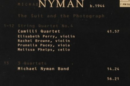 Nyman,Michael: The Suit and The Photograph, EMI(), NL, 1998 - CD - 91855 - 7,50 Euro