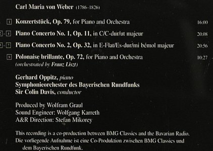 Weber,Carl Maria von: Complete Works for Piano & Orch., RCA(), EU, 1997 - CD - 91997 - 7,50 Euro