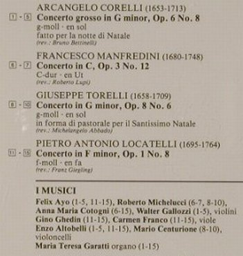V.A.Christmas Concertos: Corelli,Manfredini,Toreli,Locatelli, Philips(426 175-2), D, 1989 - CD - 92027 - 7,50 Euro