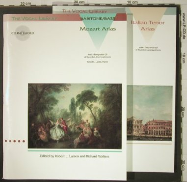 V.A.The Vocal Library-Bariton Bass: Mozart Arias,Italian Tenor Arias, Hal Leonard(), US, 1993 - 2CDs - 92436 - 9,00 Euro