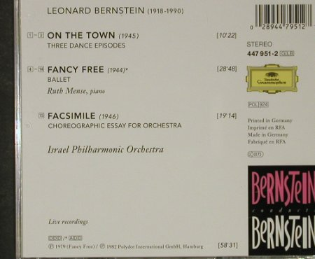 Bernstein,Leonard: On the Town, Fancy Free, Facsimile, Deutsche Gramophon(), D, 1979 - CD - 92690 - 7,50 Euro