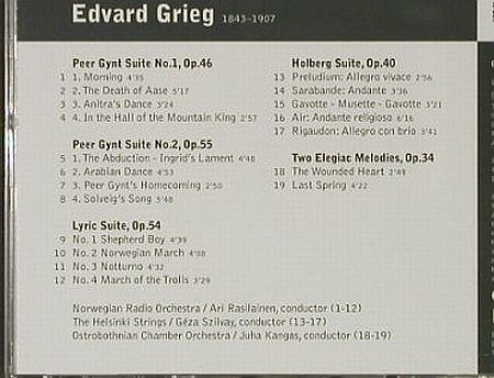 Grieg,Edvard: Peer Gynt-Suiten 1 & 2/,Lyric Suite, Warner Classics/apex(), EU, 2002 - CD - 92759 - 6,00 Euro