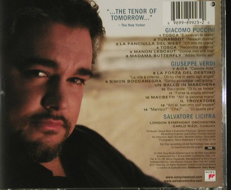 Licitra,Salvatore: Debut, co, Sony(SK 89923), US, 2002 - CD - 92796 - 6,00 Euro