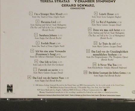 Stratas,Teresa: Sings Weill, y Chamber Symphony, Nonesuch(), D, 1986 - CD - 93245 - 10,00 Euro