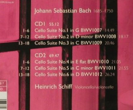 Bach,Johann Sebastian: Cello Suites '85, EMI(), EU, 2005 - 2CD - 93471 - 7,50 Euro
