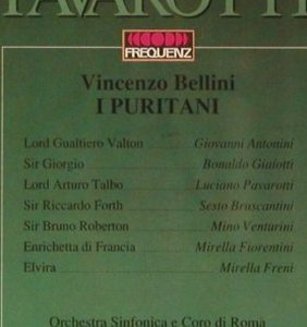 Bellini,Vincenzo: I Puritani '69, Pavarotti,Freni, Frequenz(043-504), D, 1991 - 2CD - 93650 - 10,00 Euro