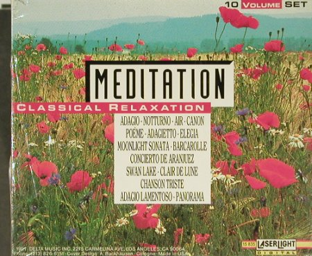 V.A.Meditation: Classical Relaxation,BoxSet, FS-New, LaserLight(), US,  - 10CD - 94027 - 20,00 Euro
