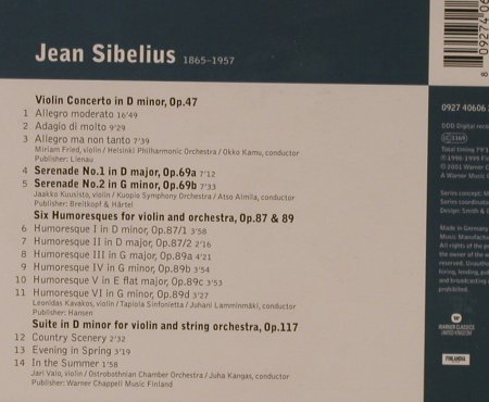 Sibelius,Jean: Complete Works for Violin & Orch., Warner Classics(), EU, 2001 - CD - 94635 - 5,00 Euro