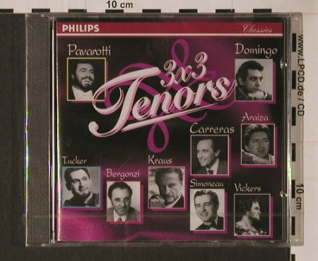 V.A.3x3 Tenors: 9 Tr., FS-New, Philips(442 602-2), D, 1994 - CD - 94690 - 5,00 Euro