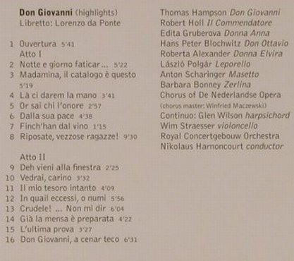 Mozart,Wolfgang Amadeus: Don Giovanni-Highlights, Warner Classics(), EU, 2004 - CD - 94709 - 5,00 Euro