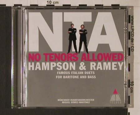 Hampson & Ramey: No Tenors Allowed, Teldec(), D, 1999 - CD - 94727 - 7,50 Euro