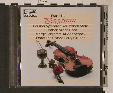 Lehar,Franz: Paganini-High Lights, Eurodisc(258 359), D,  - CD - 94762 - 10,00 Euro