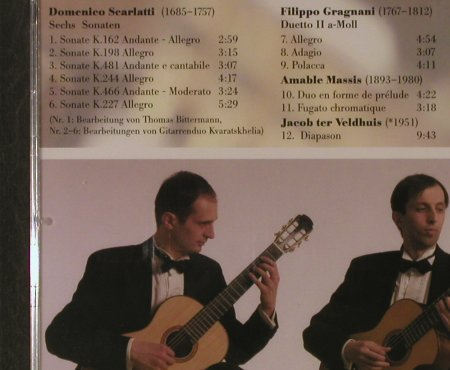 Scarlatti,D./Gragnani/Massis/ter Ve: 6 Sonaten/Duetto II a-moll/Duo En F, Acoustic Music(319.1347.2), D FS-New, 2005 - CD - 94789 - 7,50 Euro