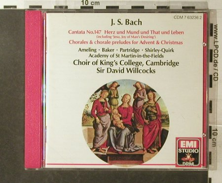 Bach: Cantata 147, EMI(7 63236 2), UK, 1989 - CD - 96043 - 5,00 Euro