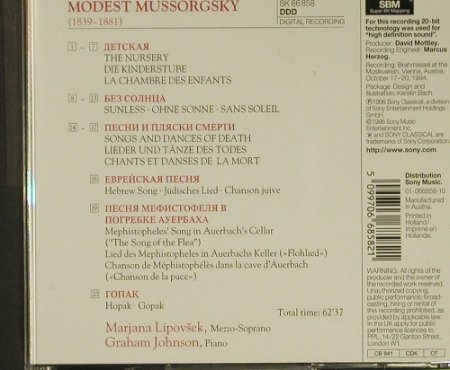 Mussorgsky, Modet Peter: Song And Dance Of Death, Sony(SK 66 858), NL, 1996 - CD - 97255 - 18,00 Euro