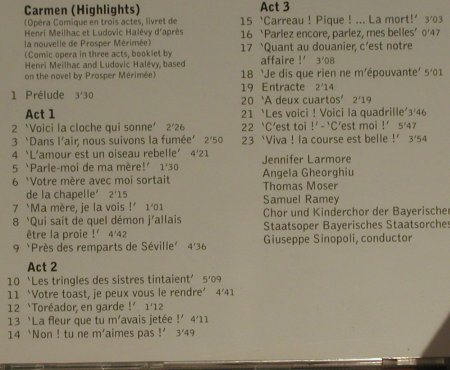Bizet,Georges: Carmen '96 - Highlights, Apex/Warner(), D, 2002 - CD - 97598 - 5,00 Euro