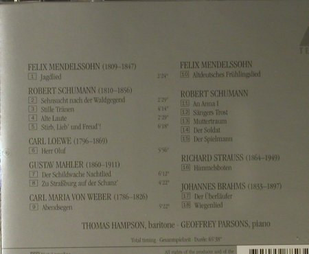 Hampson,Thomas: Lieder, Teldec(4509-98823-2), EU, 1995 - CD - 98092 - 10,00 Euro