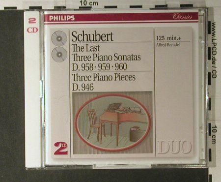 Schubert,Franz: The Last Tree Piano Sonatas, Philips(438 703-2), D, 1993 - 2CD - 98116 - 10,00 Euro