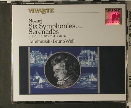 Mozart,Wolfgang Amadeus: Six Symphonies After Serenades, Sony(S2K 47260), NL, 1991 - 2CD - 98196 - 12,50 Euro