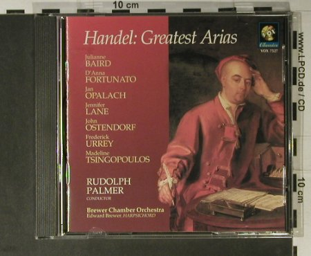 Händel,Georg Friedrich: Greatest Arias, Vox Classics(VOX 7527), US, 1996 - CD - 98376 - 15,00 Euro