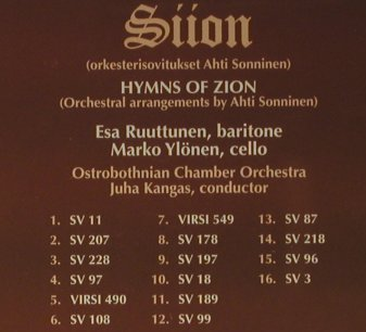 V.A.Siion: Hymns Of Zion, Finlandia(), D, 1998 - CD - 98468 - 10,00 Euro