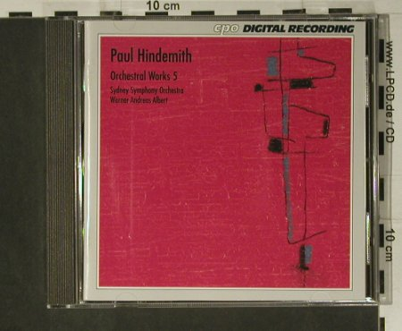 Hindemith,Paul: Orchestral Works 5, CPO(999 008-2), D, 1991 - CD - 98507 - 10,00 Euro