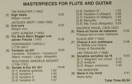 Gerard,Jean Claude: Master Pieces For Flute & Guitar, Signum(SIG X51-00), D, 1994 - CD - 98508 - 14,00 Euro