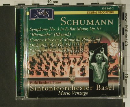 Schumann,Robert: A Different Schumann Vol. 3, Novalis(150 165-2), EU, 2002 - CD - 98516 - 14,00 Euro