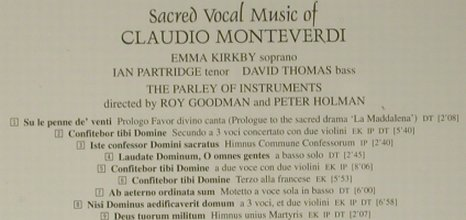 Monteverdi,Claudio: Sacred Vocal Music Of, Hyperion(CDA20021), UK, 1981 - CD - 98527 - 14,00 Euro