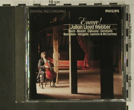 Webber,Julian Lloyd: Encore!, Philips(416 698-2), D, 1986 - CD - 98657 - 15,00 Euro