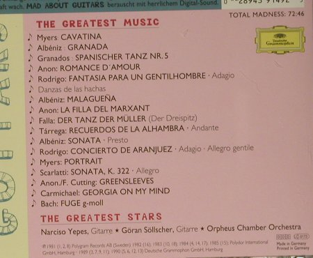 V.A.Mad About Guitars: The Greates Stars..Greatest Music, D.Gr.(439 149-2), D, 1996 - CD - 99042 - 4,00 Euro