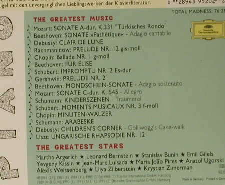 V.A.Mad About Piano: The Greates Stars..Greatest Music, D.Gr.(439 520-2), D, 1996 - CD - 99043 - 4,00 Euro
