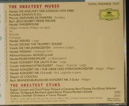 V.A.Mad About Baroque: The Greates Stars..Greatest Music, D.Gr.(439 147-2), D, 1996 - CD - 99044 - 4,00 Euro