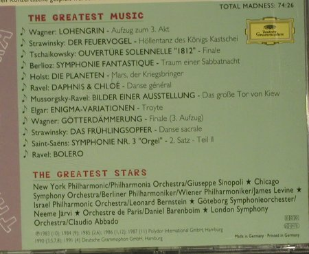 V.A.Mad About The Orchestra: The Greates Stars..Greatest Music, D.Gr.(439 512-2), D, 1996 - CD - 99047 - 4,00 Euro